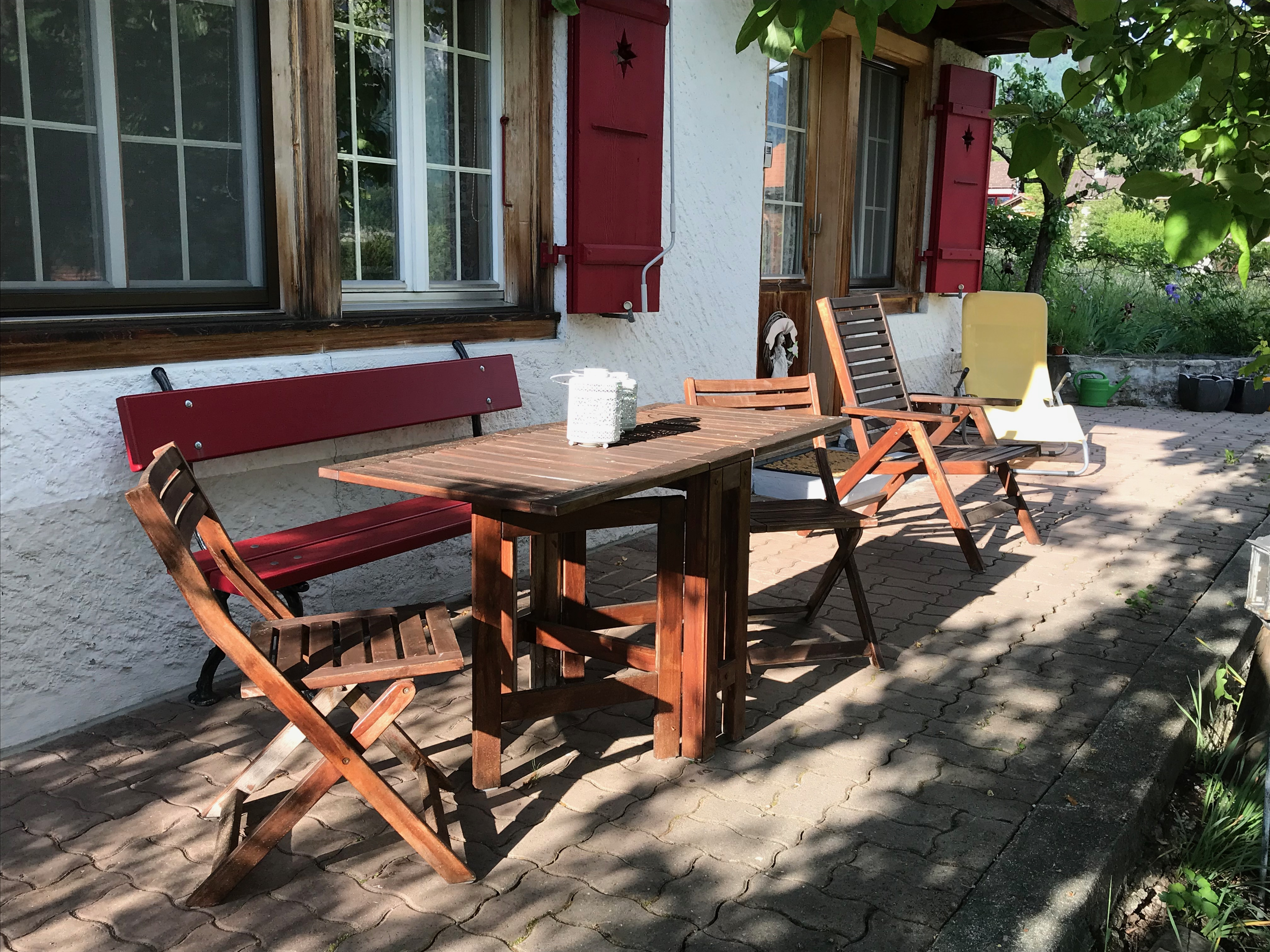 Your outdoor seating in front of the holiday flat